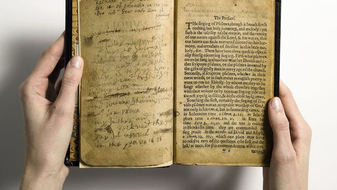"""What Sotheby's describes as """"the world's most valuable book,"""" the Bay Psalm Book, is the first book ever printed in what is now the United States. It could set an auction record for any printed book."""