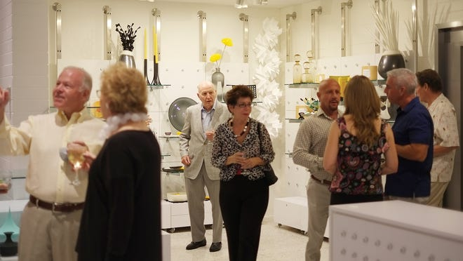 Guests mingle at the sneak peek opening of the Palm Springs Art Museum's Architecture and Design Center on Sept. 27.