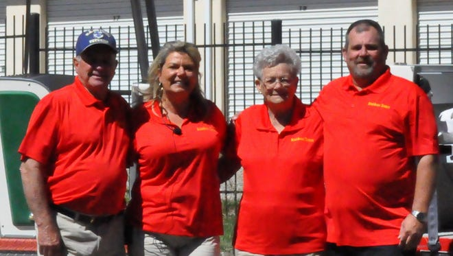 From L: Harold, Robin, Barbara and Michael Kephart. Michael's parents, Harold and Barbara, help run the new Ruidoso Tram service.