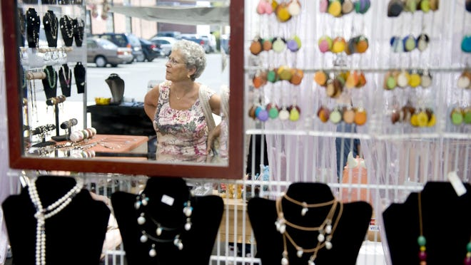 Jewelery artists are always a highlight of the Collingswood Crafts and Fine Arts Festival.