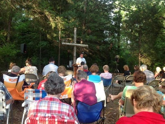 Outdoor worship services at Aldersgate began in 2012, offering a casual time of fellowship. The next outdoor service will be held Sunday.