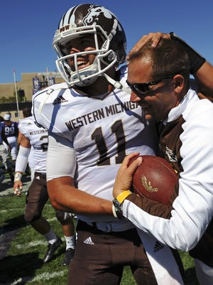 Western Michigan (10-0) is No. 21 in the College Football Playoff ranking, which is a spot below No. 20 Boise State (9-1). Both schools are competing for a spot in the Cotton Bowl Jan. 2 in Arlington, Texas.