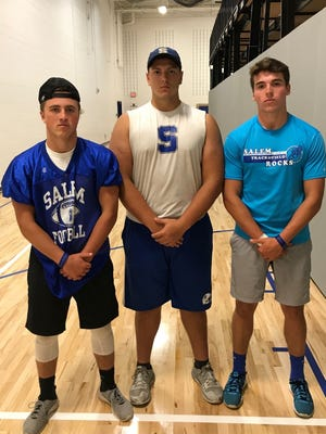 From left, Salem's Sean McCormack, Alex Howie and Ryan Young are three of the seniors who will be among team leaders in 2017.