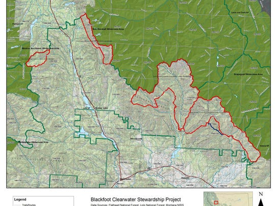 Areas in red are proposed wilderness additions.