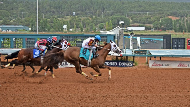 Eagle Jazz (#9) will have a chance at becoming only the second race horse to win the triple-crown and the first to win a $4 million bonus. Eagle Jazz, Starfield (#3) and Uptown Dynasty will all meet again in the All American on Labor Day.