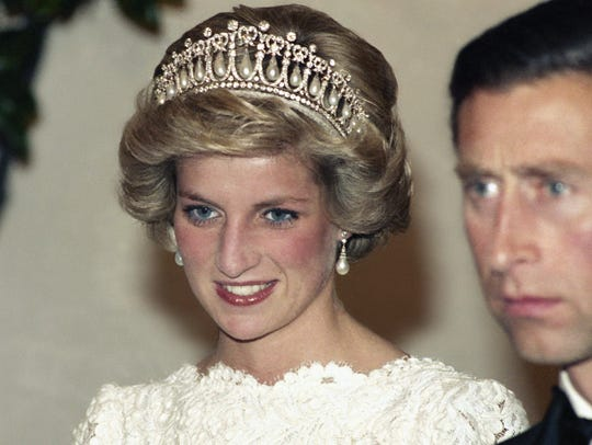 Princess Diana and Prince Charles at the British Embassy