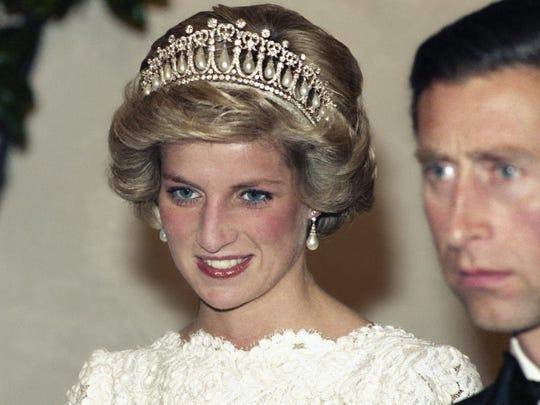 Princess Diana and Prince Charles at the British Embassy