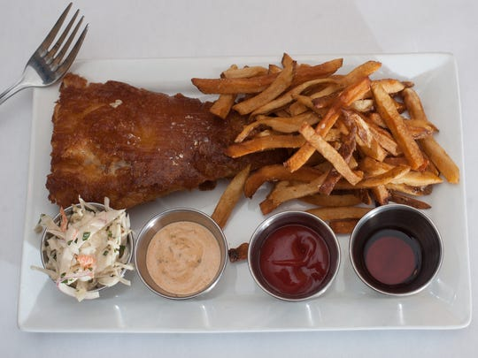 Fish & Chips dish is shown at The Local Eatery and Pub in Mount Holly.