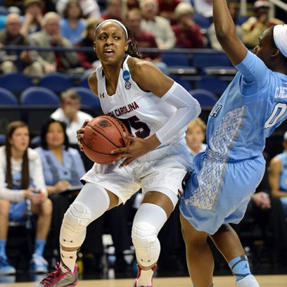 South Carolina Gamecocks guard Tiffany Mitchell (25)