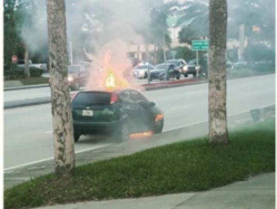 St. Lucie County Fire District responded to a vehicle