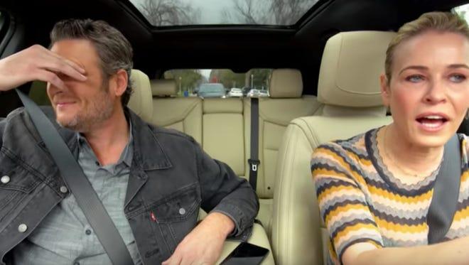"Singer Blake Shelton and comedian Chelsea Handler appear on Apple's upcoming version of ""Carpool Karaoke"""