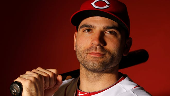 Reds first baseman Joey Votto poses for a portrait on picture day at spring training Feb. 26 in Goodyear.
