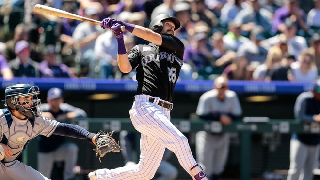 David Dahl didn't play in the majors in 2017, but he's started four consecutive games since being recalled on April 22.