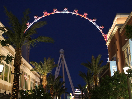 The High Roller, the world's tallest observation wheel, in Las Vegas, Nevada. (Nate Stiller, Wikimedia Commons)
