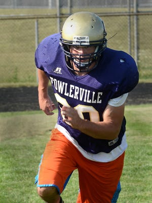 Trevor Brock led Fowlerville with 120 tackles last season, making first team all-county.