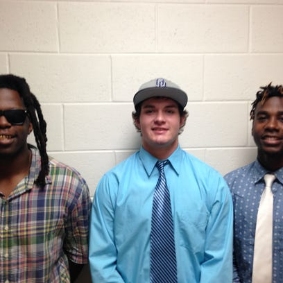 From left, Donovan Gayle, Zack Lackman and Toquan Bridley