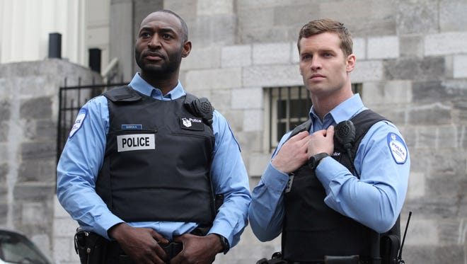 Adrian Holmes (left) and Jared Keeso of Canadian TV series 9-12.