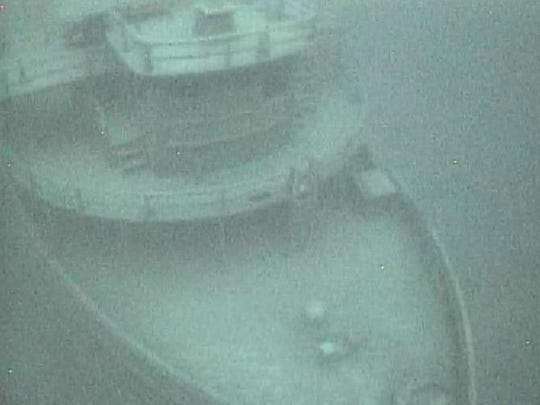 The John V. Moran was discovered in Lake Michigan this summer by the Michigan Shipwreck Research Association. The Milwaukee-to-Muskegon ship was damaged by ice and sank in February 1899. This photo was taken by a remote vehicle operated by the Michigan State Police.