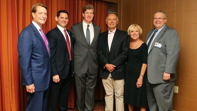 Robert C. Garrett, FACHE, Kenneth N. Sable, M.D., MBA, FACEP, former Congressman Patrick J. Kennedy, Phil and Marilyn Perricone and Ramon Solhkhah, M.D.