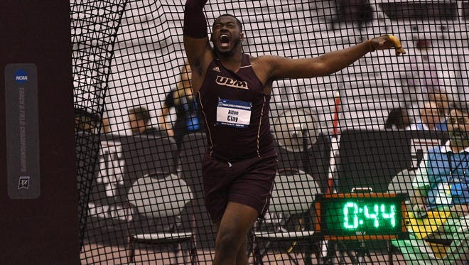 ULM senior Alton Clay placed second in the weight throw (75-4; 22.96 meters) at the 2018 NCAA Indoor Track & Field Championships Saturday in College Station, Texas. Clay led the event through the first three rounds and eventually finished behind Penn State sophomore David Lucas (78-9 3/4; 24.02m). With his performance, Clay becomes the 71st All-American in ULM program history.