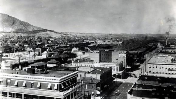 El Paso, TX, circa 1910. Looking northeast from the