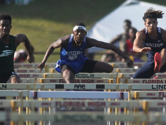 Godby's Ge'Kelvion Baldwin races to a win in the 110-meter
