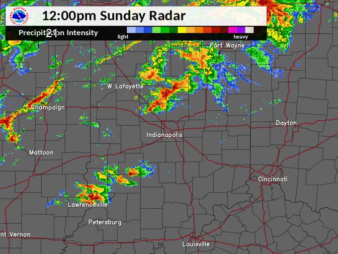 Sunday radar, noon