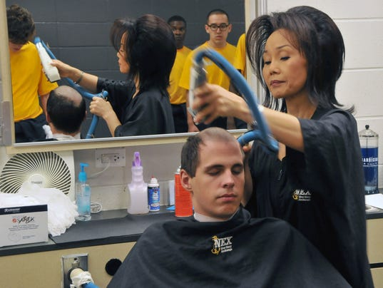 Ladies first: End may be near for Navy recruit haircuts