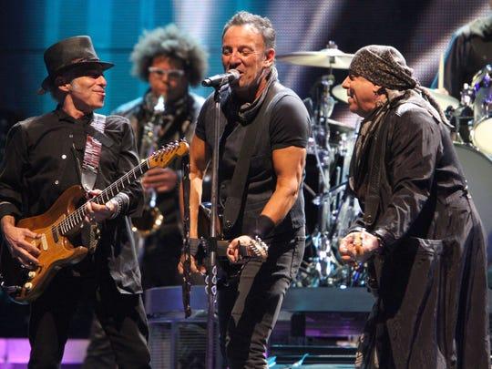2016: Bruce Springsteen, Nils Lofgren and Steven Van Zandt at MetLife Stadium on Aug. 23, 2016.
