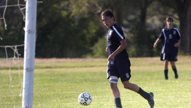 TMP's Nathan Wechsler scores a goal during the second half of Thursday's game against Circle.