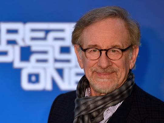 "Steven Spielberg attends the Rome premiere of ""Ready Player One"" on March 21, 2018."