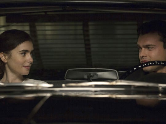 """Lily Collins and Alden Ehrenreich star in """"Rules Don't Apply."""""""