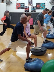 Members of the Senior Group Exercise class at Access