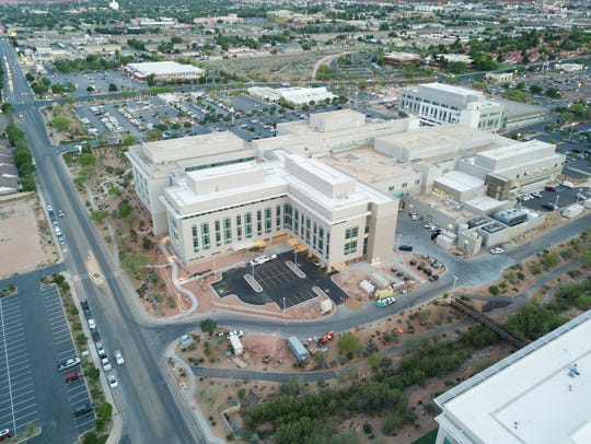 This aerial photo focuses on the new east tower at Intermountain Dixie Regional Medical Center in St. George. The new pediatrics unit is on Level 4.