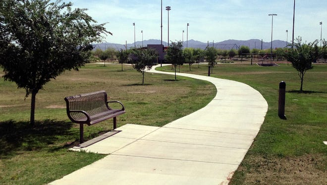 The Surprise Farms Community Park is largely unfinished. Though it has softball fields and walking paths, it does not have amenities such as playgrounds or ramadas seen at the other community parks.