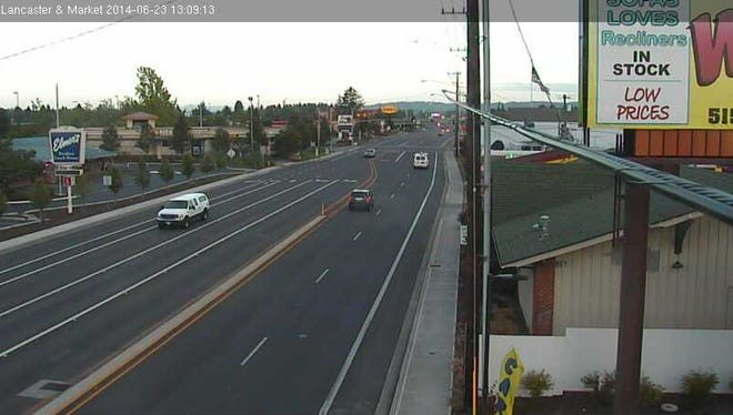 This image was taken from a traffic camera at Lancaster Drive and Market Street NE on Monday, June 23.