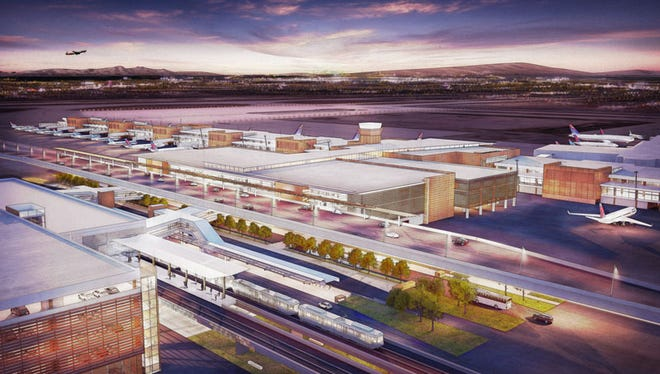 A rendering of a new terminal to be built at Salt Lake City International Airport.