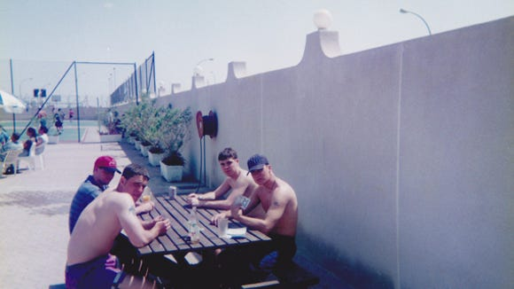 "Navy Boys Play Spades in Saudi Arabia, 1996. Photograph courtesy of Jeff Lathrop. According to George Coffin, Bridge author and expert, Spades ""was introduced in Cincinnati sometime between 1937 and 1939. From there, it spread to other cities in the general region, and eventually into the military. Spades was played extensively during World War II, as it was a fast-paced game which could be interrupted at any time -- especially during battle conditions."""