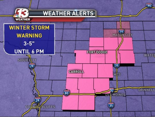 A Winter Storm Warning is in effect for these counties