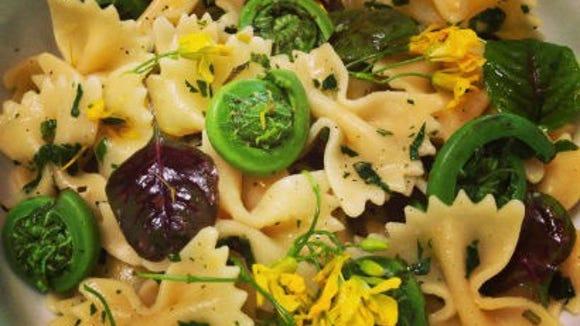 Fiddlehead ferns make a nice addition to a pasta salad.