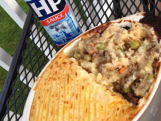 """The Cottage Pie is """"traditional British comfort food,"""" Bruce Stidham says. It's made with lean beef and vegetables topped with mashed potatoes."""