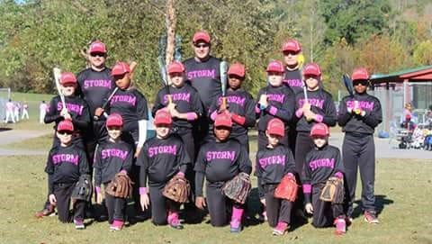 The Asheville Storm 10U baseball team.