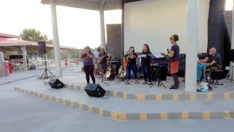 Reggae C traveled all the way from Northern California to perform in Deming.