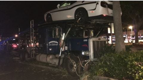 """A truck driver is in critical condition after a """"medical episode"""" likely contributed to a crash in Cape Coral."""