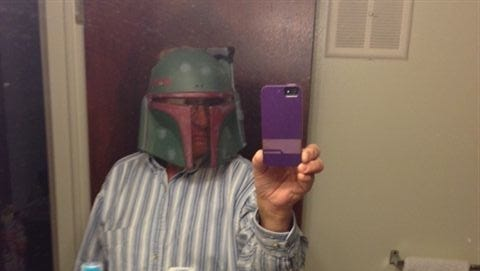 Police released this apparent selfie taken by Daniel Fritz, 60, of Canton, partially dressed in a Star War costume.