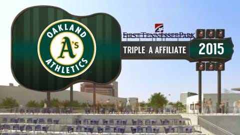 Nashville Sounds to be the Oakland A's affliate starting in 2015.