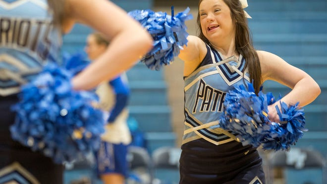 Alaina Lardaro has Down Syndrome, but it doesn't stop her from being as active as any other teen. Along with many other talents, she is a member of the Freehold High School cheerleading squad.Freehold, NJThursday, February 8, 2018@dhoodhood