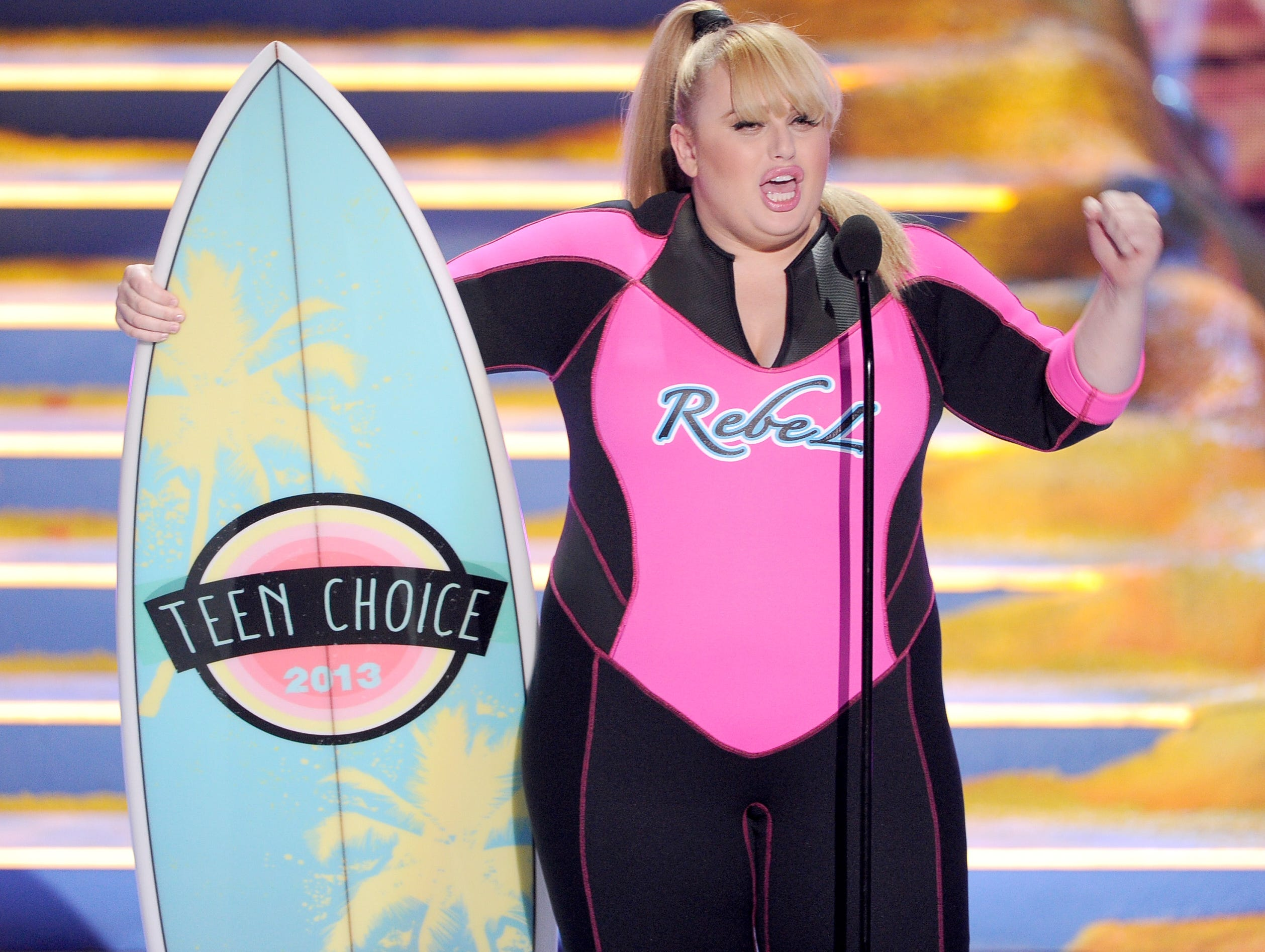 "Actress Rebel Wilson accepts Choice Movie Actress for ""Pitch Perfect."""