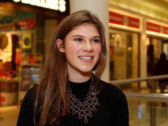 Deanna Schlott from Poughkeepsie talks about 2016 and the upcoming new year at the Poughkeepsie Galleria on Wednesday, December 28, 2016.