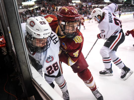 St. Cloud State's Kevin Fitzgerald and Griffin Mendel